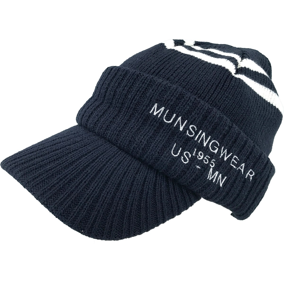 マンシングウェア Munsingwear ツバ付きニットキャップ フリー ネイビー 00