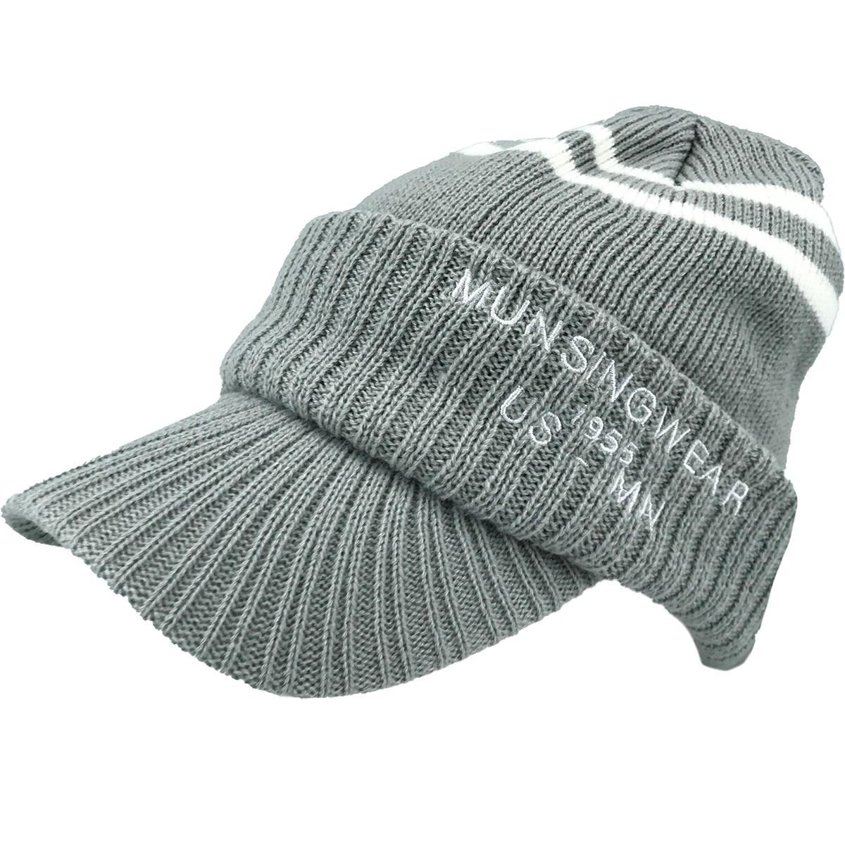 マンシングウェア Munsingwear ツバ付きニットキャップ フリー グレー 02