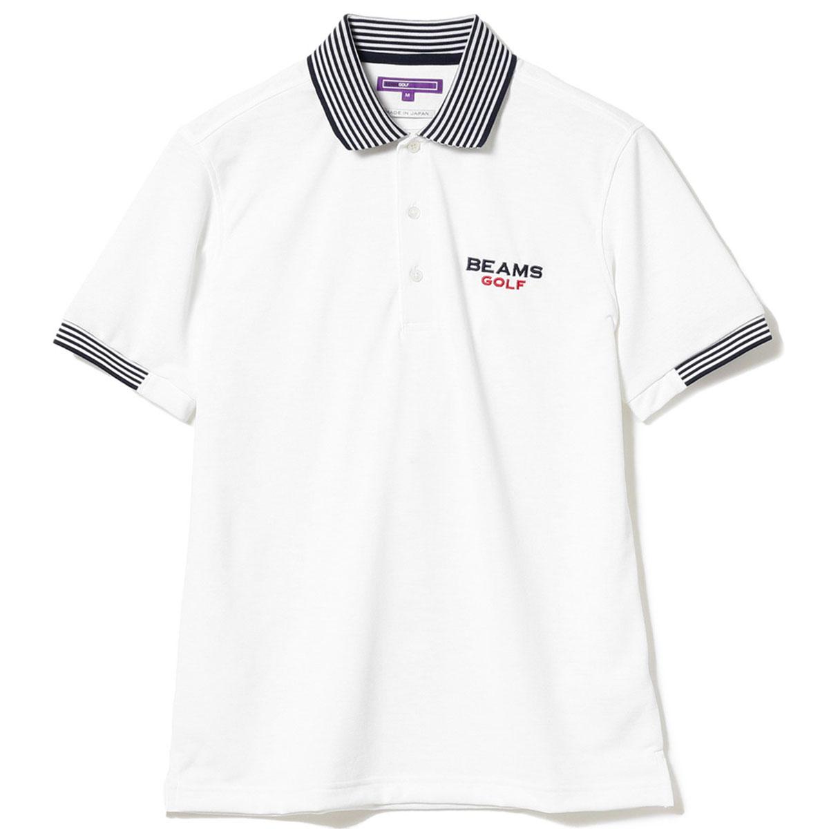 BEAMS GOLF PURPLE LABEL  エリ裏 ロゴ ポロシャツ