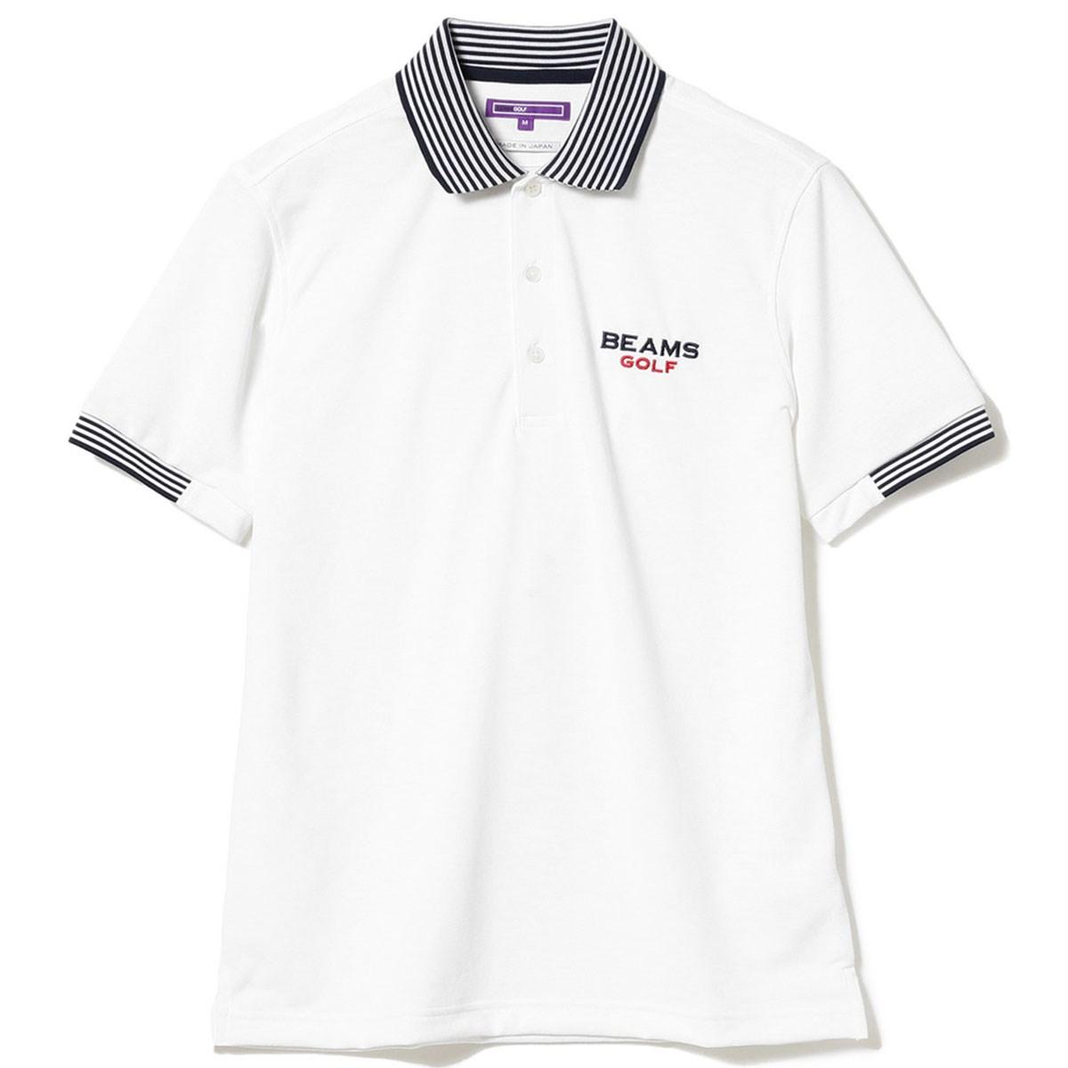 ビームスゴルフ BEAMS GOLF PURPLE LABEL  エリ裏 ロゴ ポロシャツ