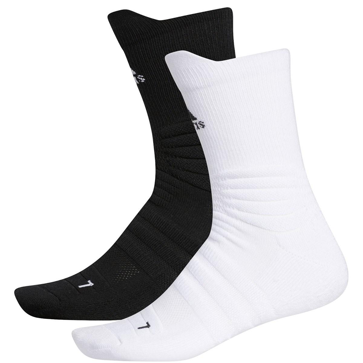 アディダス Adidas グリップクルーソックス 2足セット フリー ホワイト/ブラック