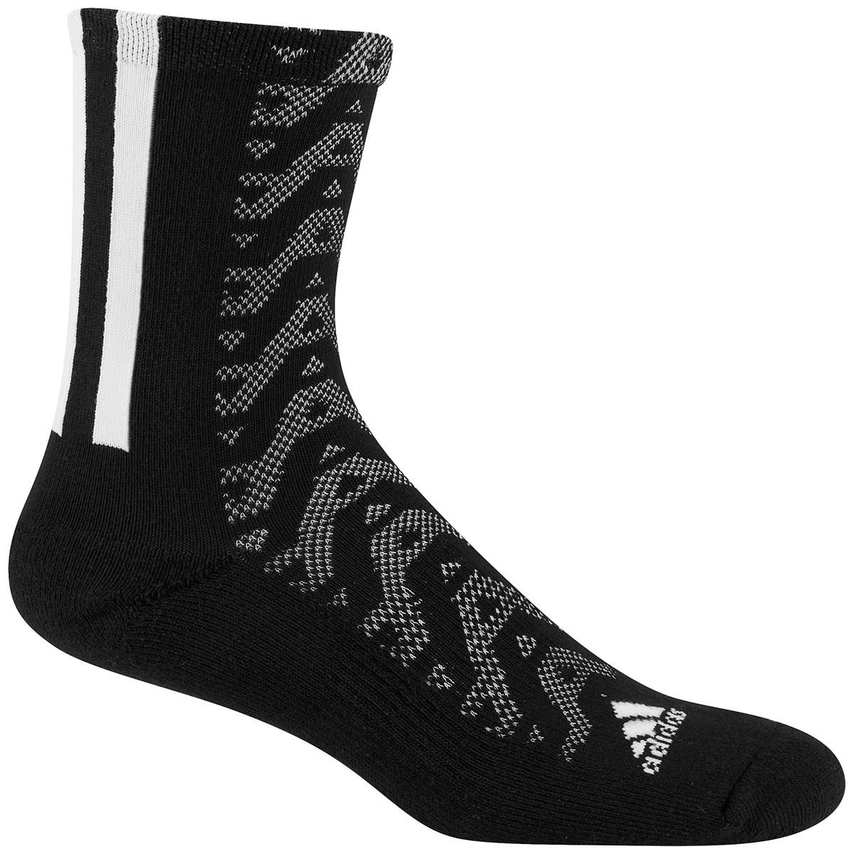 アディダス Adidas グラフィッククルーソックス フリー ブラック/ホワイト レディス