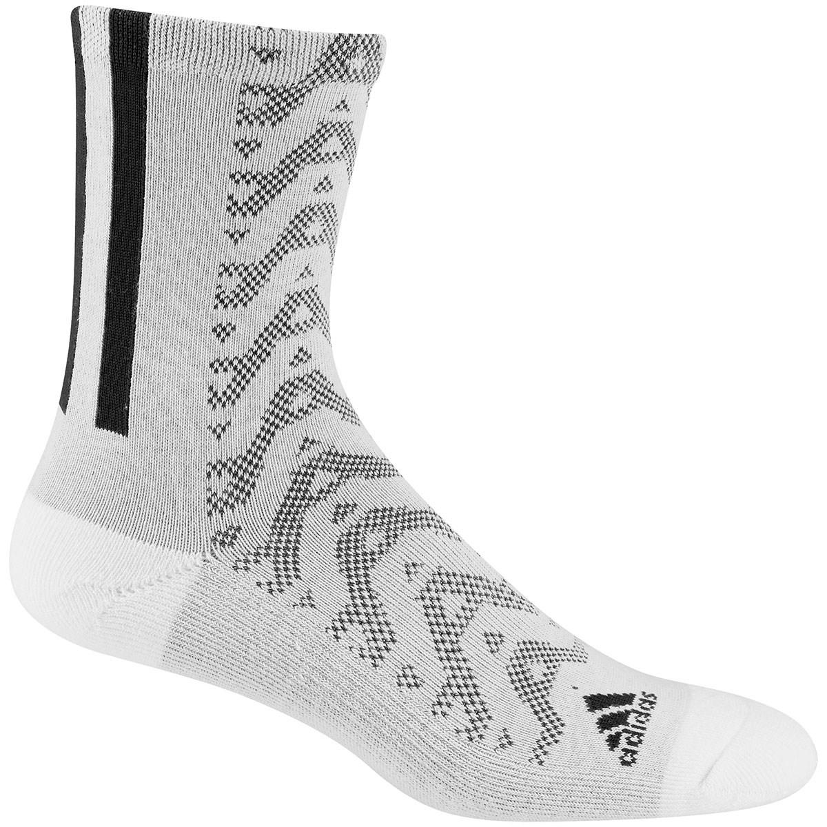 アディダス Adidas グラフィッククルーソックス フリー ホワイト/ブラック レディス