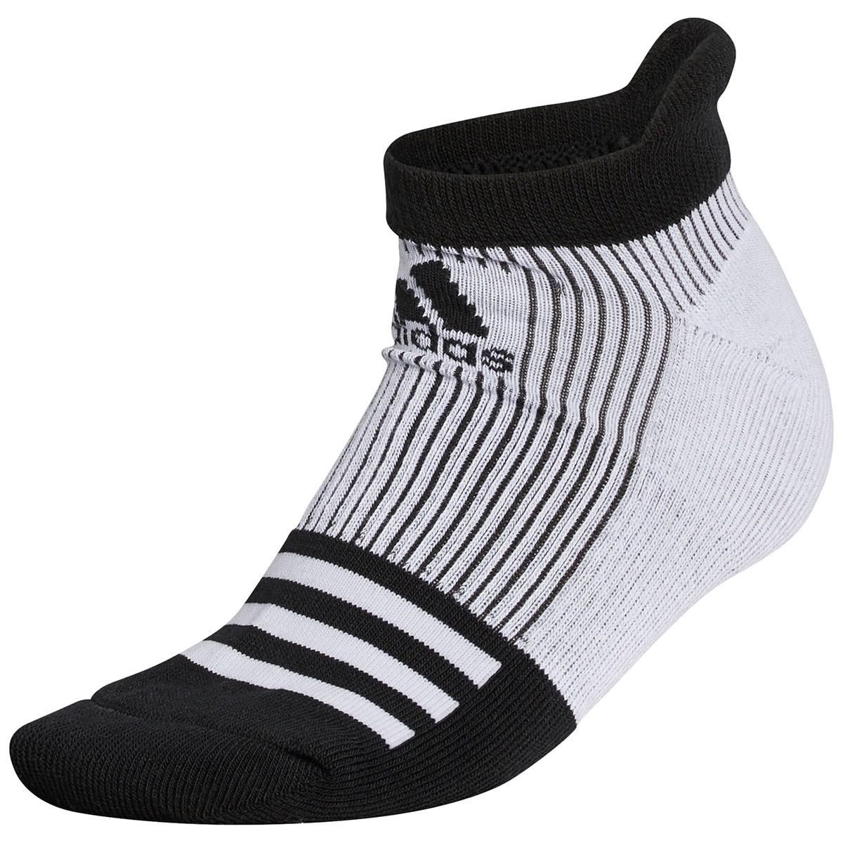 アディダス Adidas 3ストライプローカットソックス フリー ホワイト/ブラック レディス
