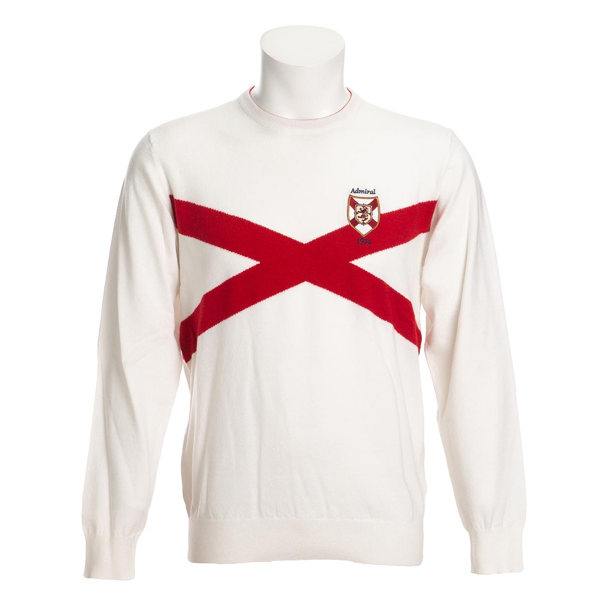 アイルランドクロス ストレッチクルーネックセーター