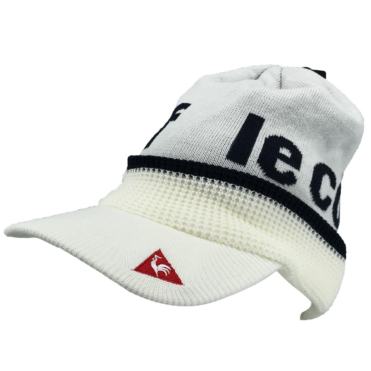 ルコックゴルフ Le coq sportif GOLF ツバ付きニットキャップ フリー ホワイト 00