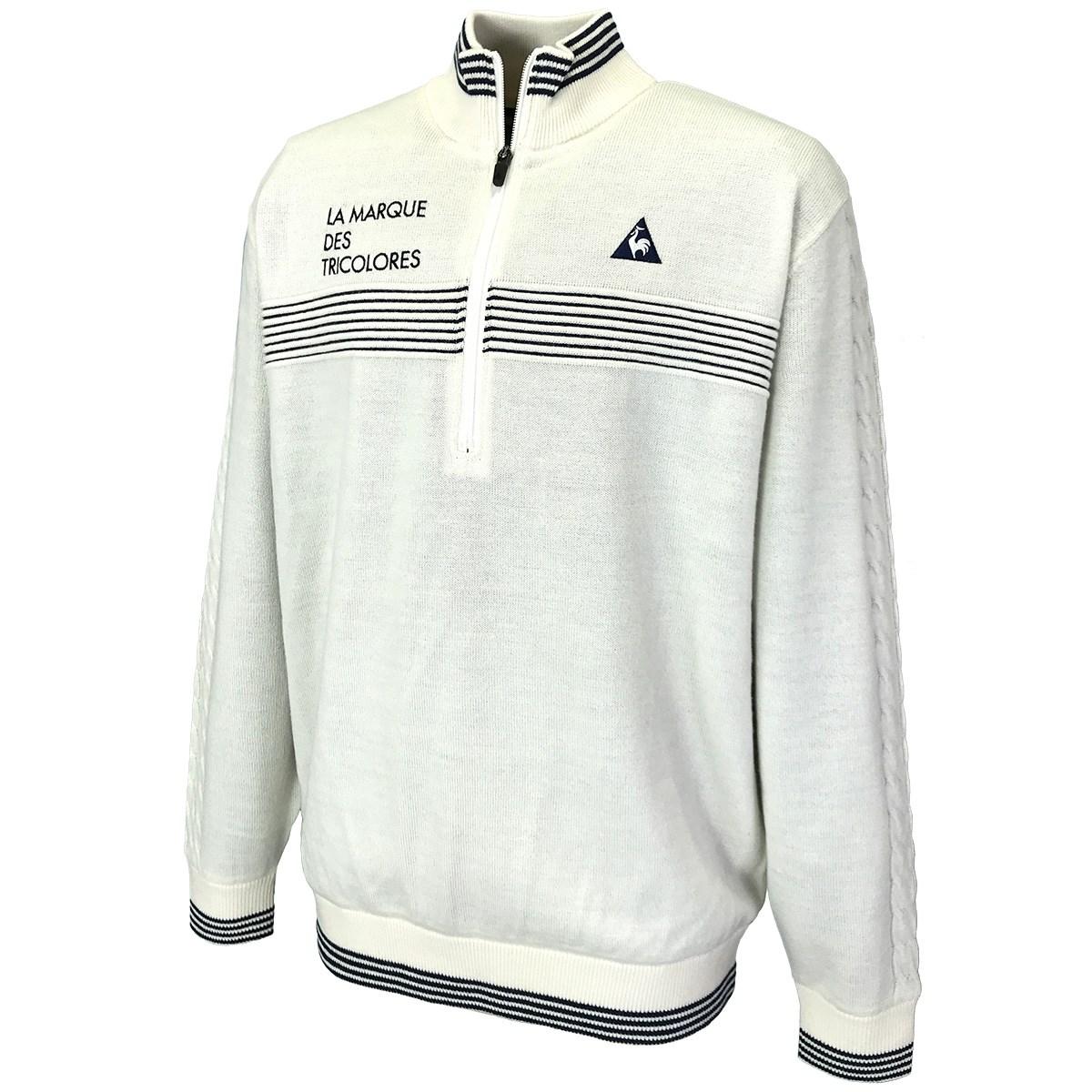 [アウトレット] [50%OFF 在庫限りのお買い得商品] ルコックゴルフ Le coq sportif GOLF ジップアップ防風裏付きセーター ホワイト 00 メンズ ゴルフウェア