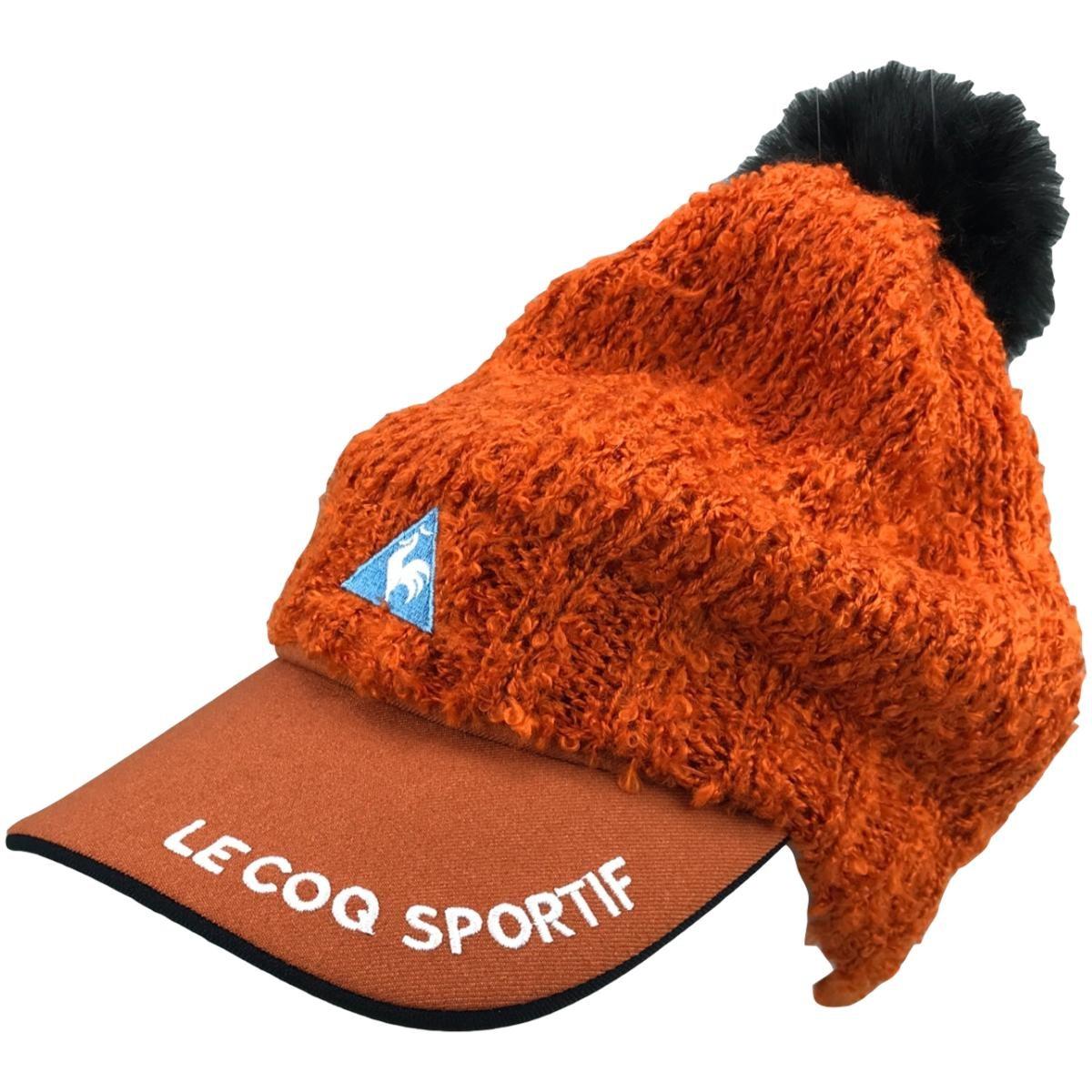 ルコックゴルフ Le coq sportif GOLF 3WAY サンバイザー付きニットキャップ フリー オレンジ 00 レディス