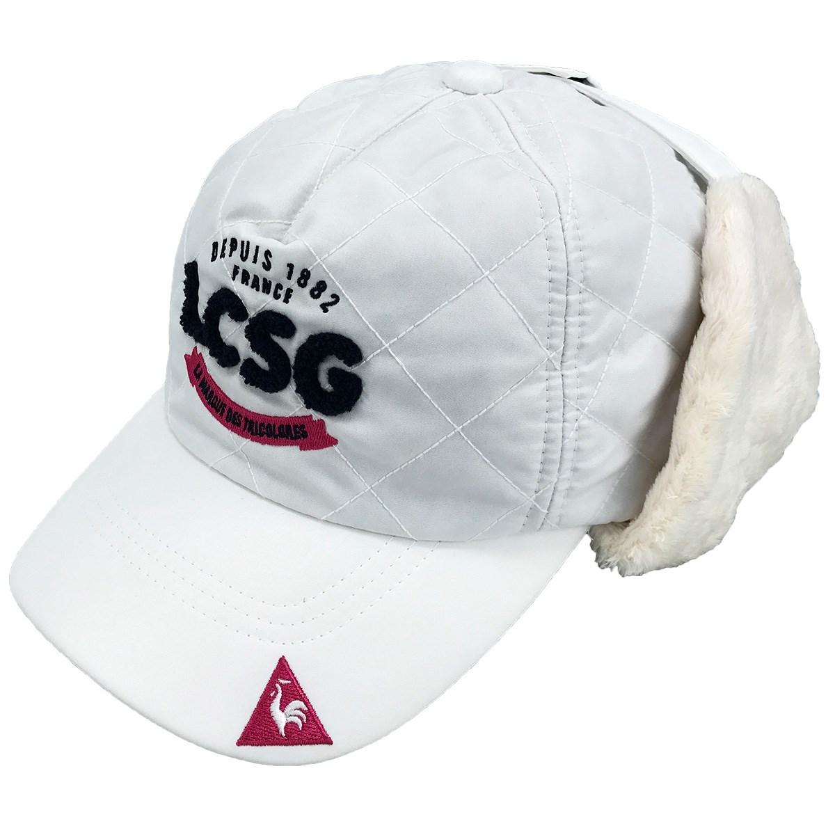 ルコックゴルフ Le coq sportif GOLF 耳当て付きキルトキャップ フリー ホワイト 00 レディス