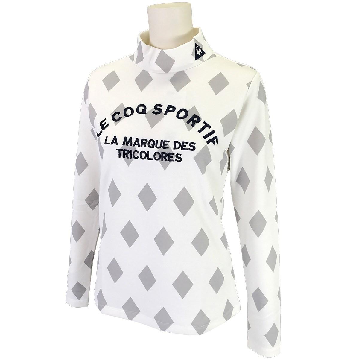 ルコックゴルフ Le coq sportif GOLF ハイネック長袖シャツ L ホワイト 00 レディス