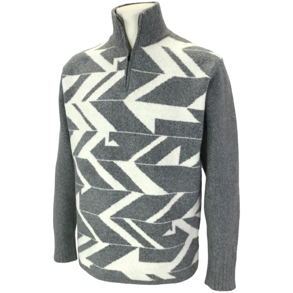 デサントゴルフ(DESCENTE GOLF) 紡毛TORI柄ダブルジャカードジップアップセーター