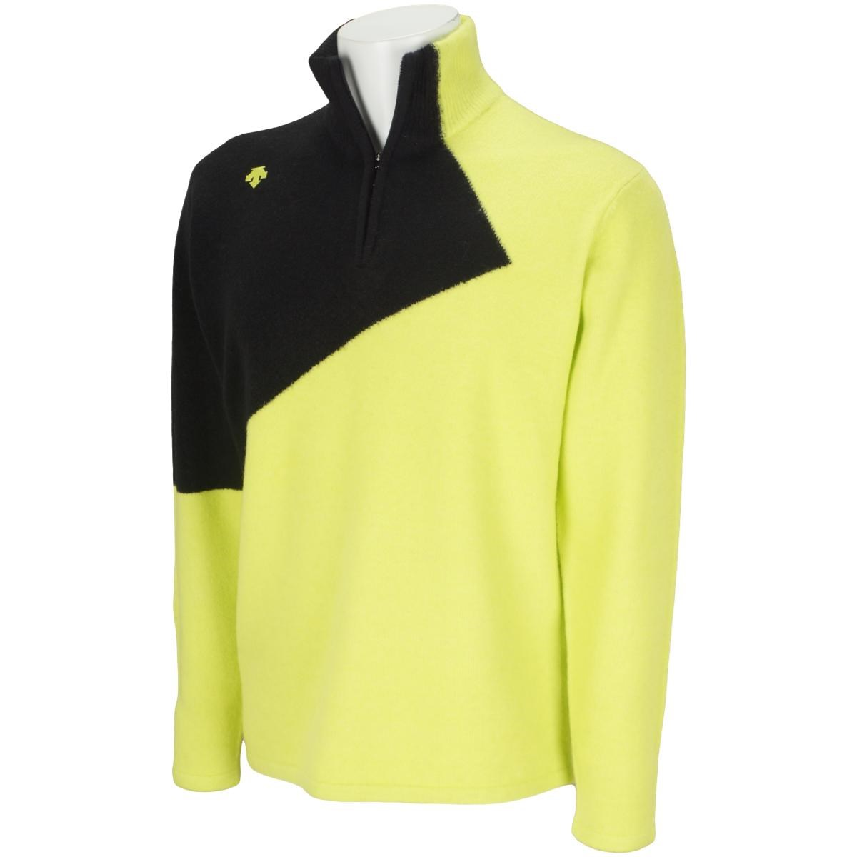 デサントゴルフ(DESCENTE GOLF) 紡毛ジャカードライジング切り替えジップアップセーター