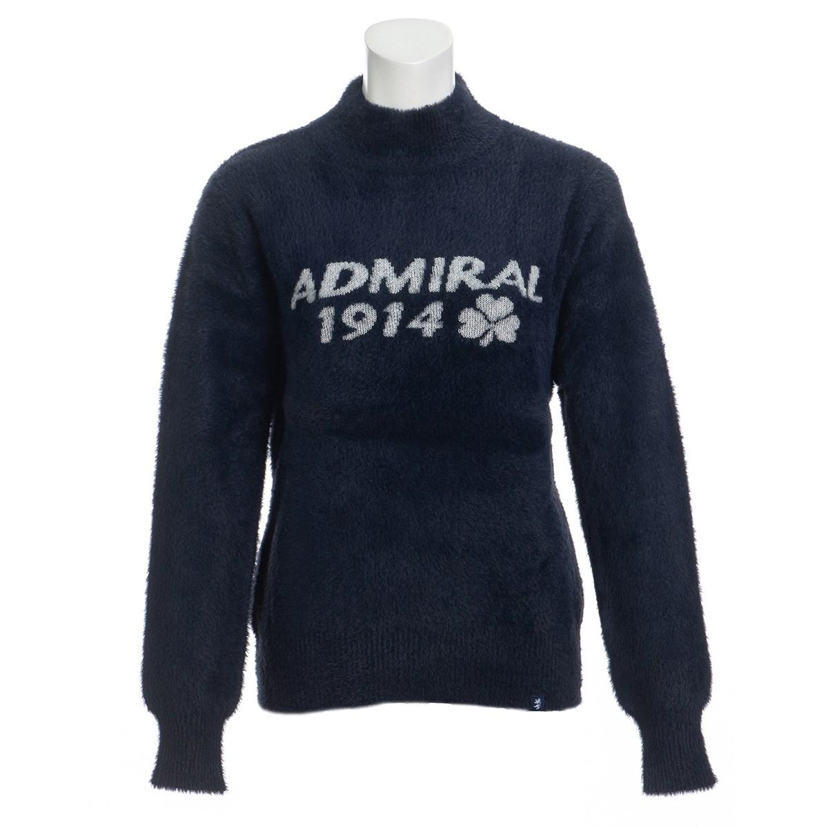 アドミラル Admiral ロゴモール ハイネックセーター M ネイビー 30 レディス