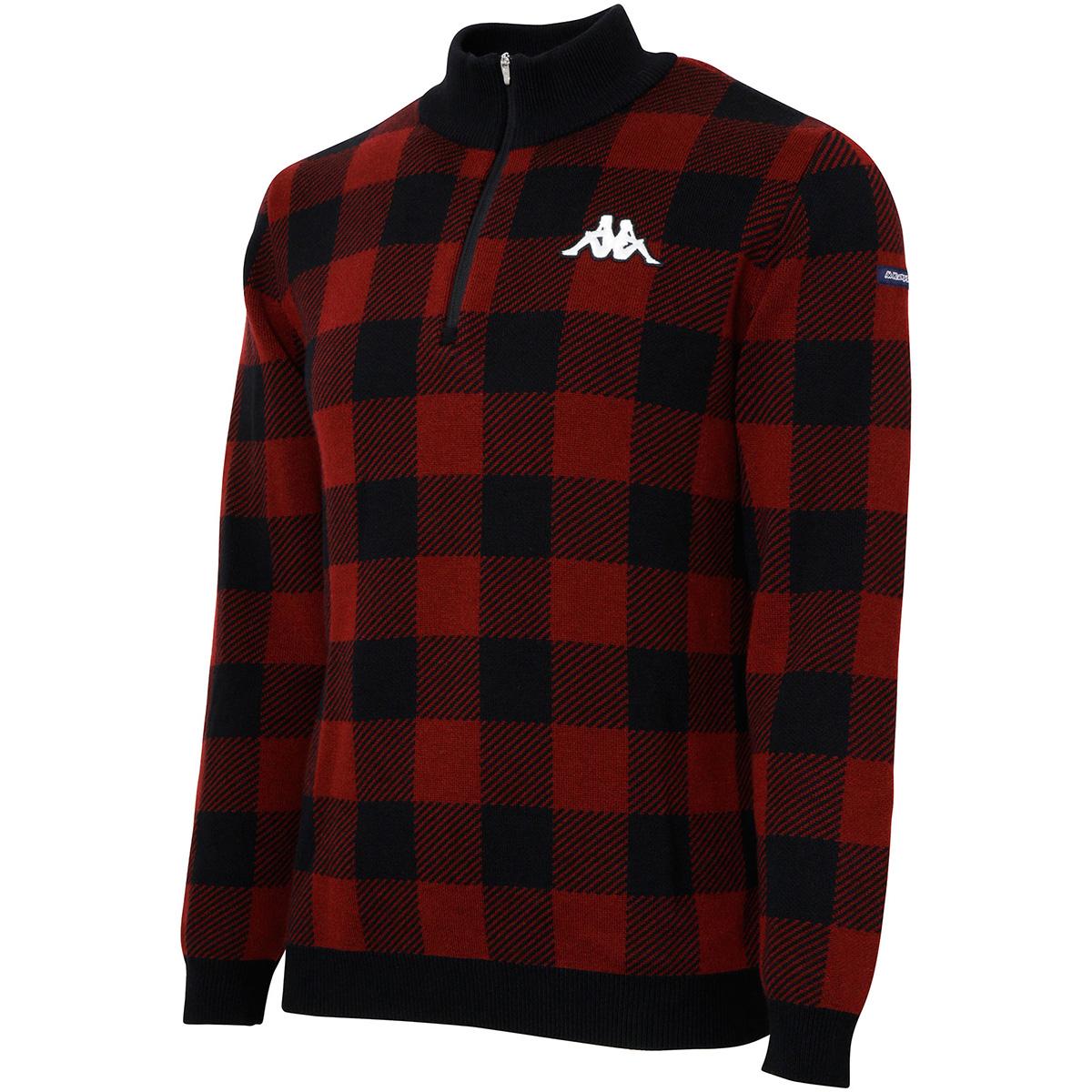 Kappa GOLF バッファローチェックハーフジップセーター