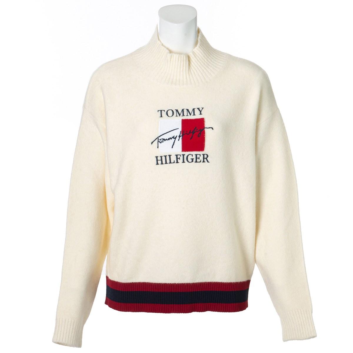 トミー ヒルフィガー ゴルフ TOMMY HILFIGER GOLF フラッグハイネックセーター S ホワイト 00 レディス