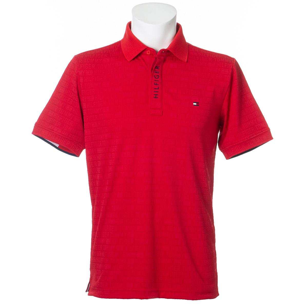 ロゴジャカード半袖ポロシャツ