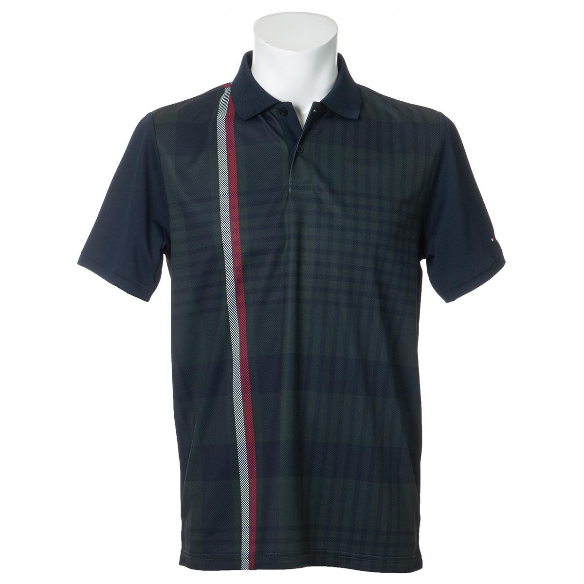 ビッグチェック半袖ポロシャツ