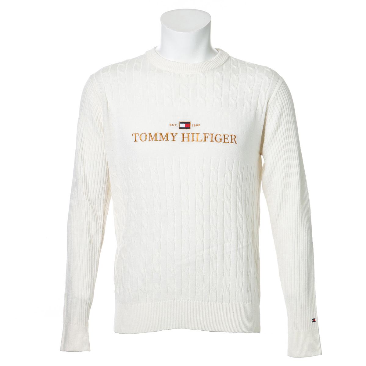 ロゴクルーネックセーター