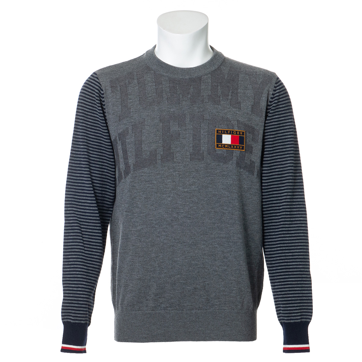 ジャカードクルーネックセーター