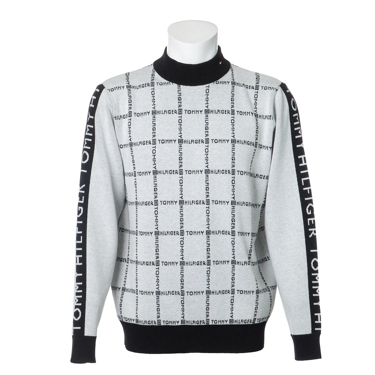 ロゴチェック ハイネックセーター