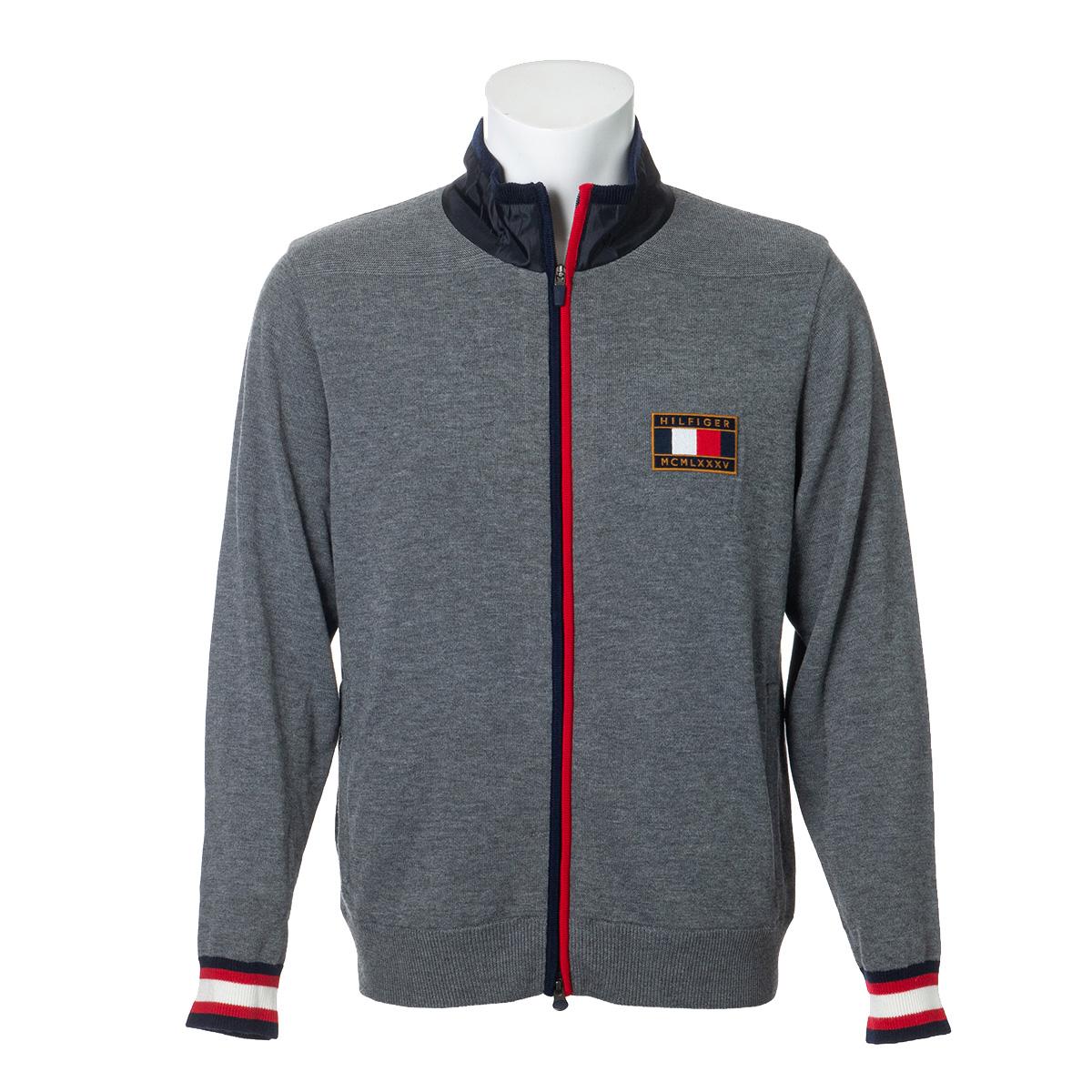 ジップアップラインセーター
