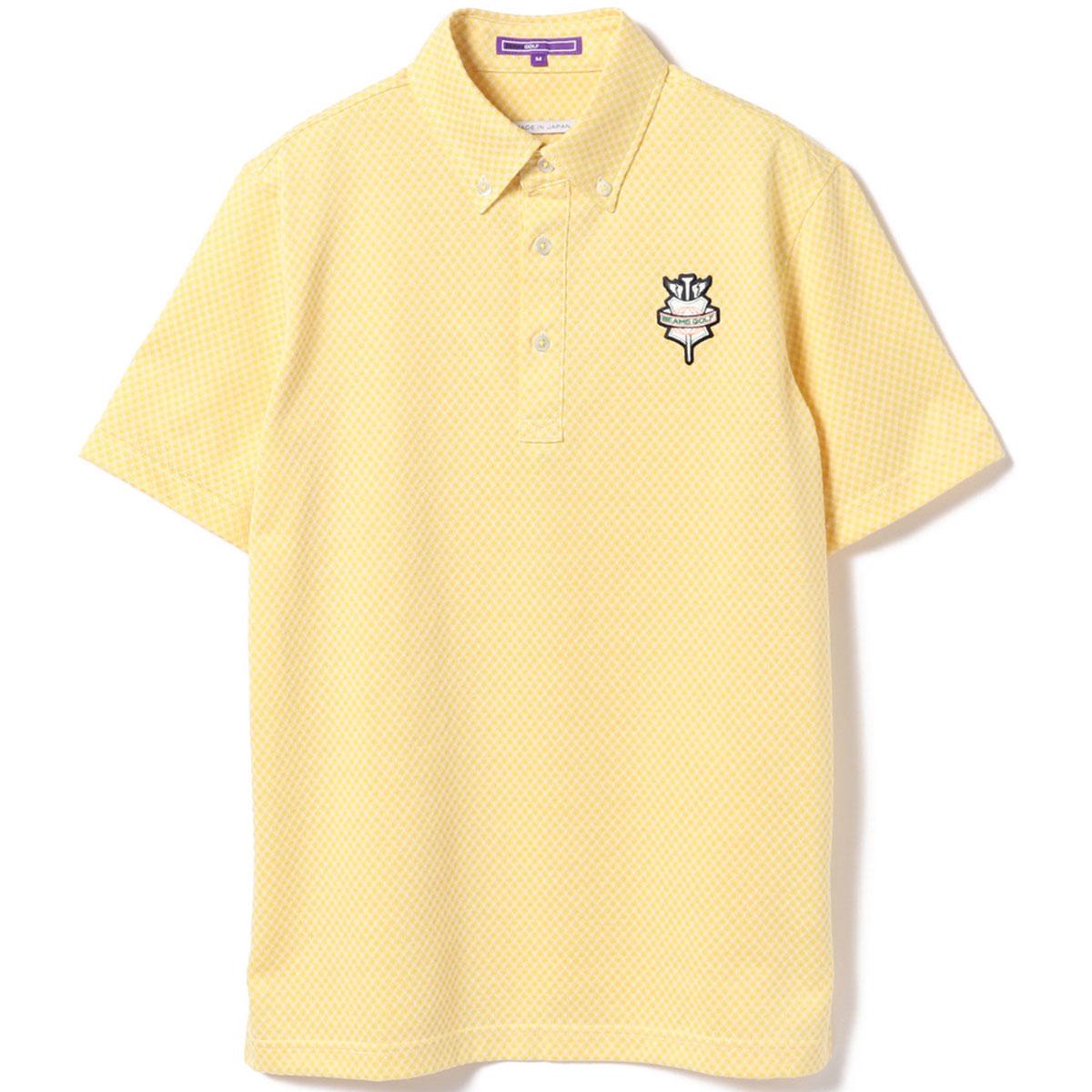 BEAMS GOLF PURPLE LABEL バイアス チェック ポロシャツ
