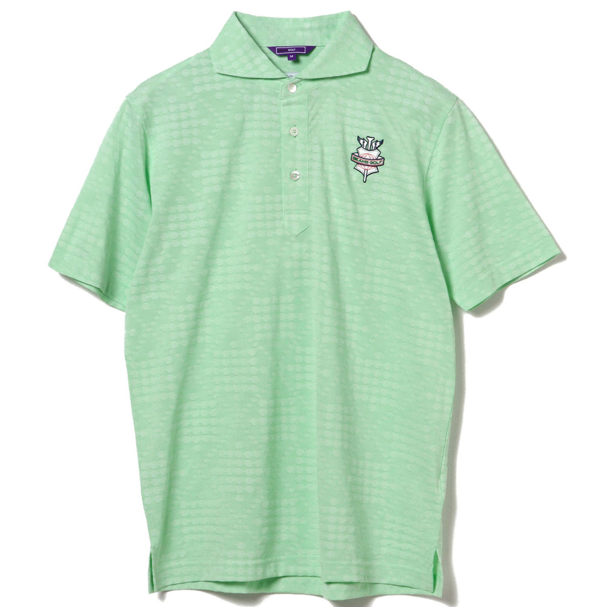 BEAMS GOLF PURPLE LABEL シャンブレー ドット ポロシャツ