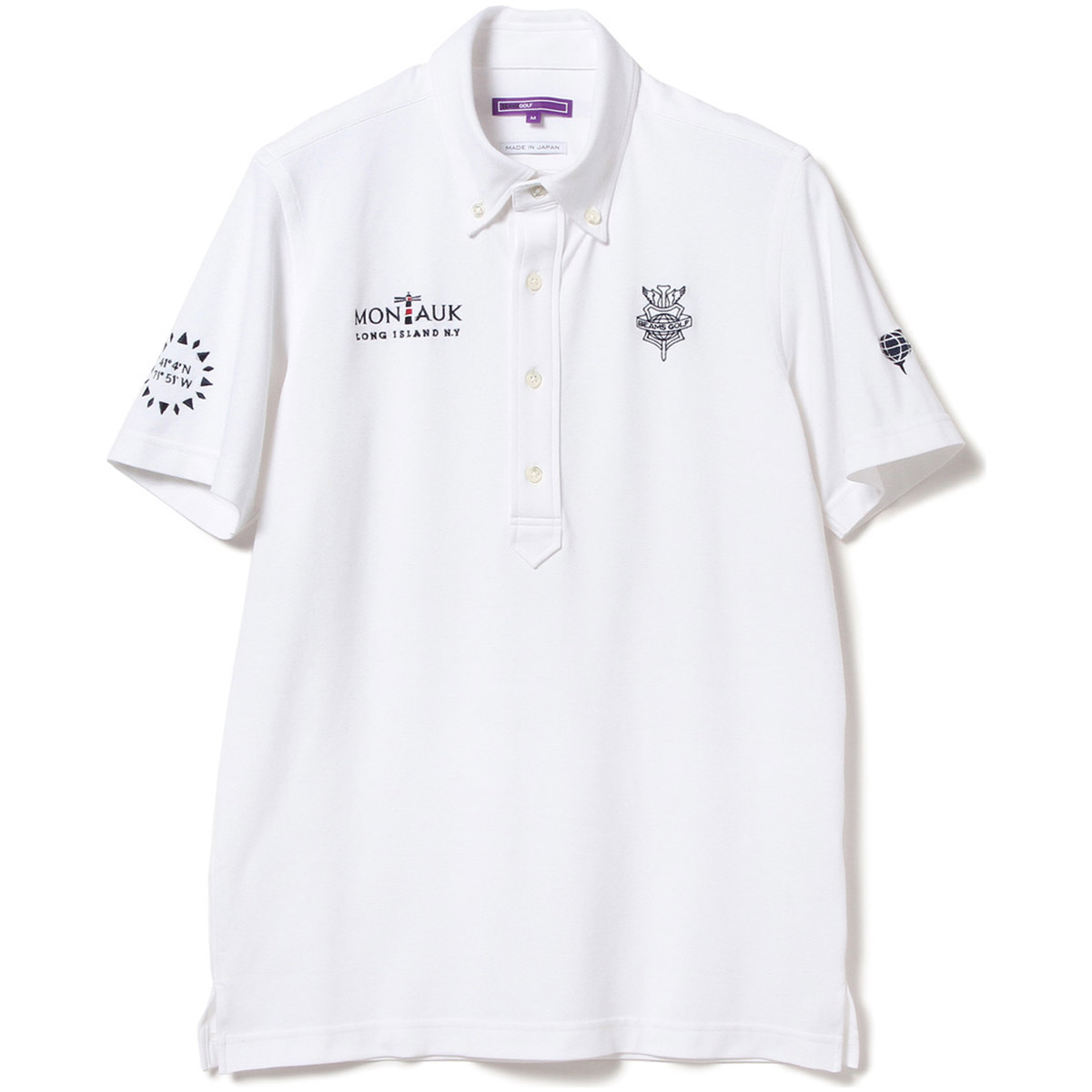 BEAMS GOLF PURPLE LABEL MONTAUK ボタンダウン ポロシャツ