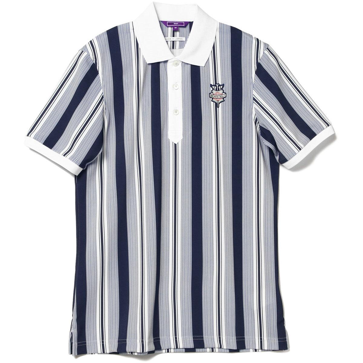 BEAMS GOLF PURPLE LABEL ランダム ストライプ ポロシャツ
