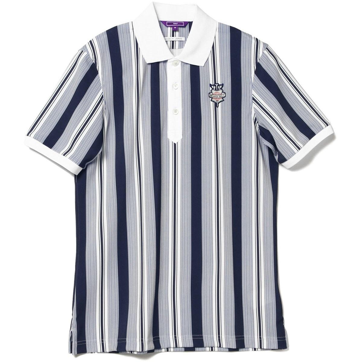 ビームスゴルフ BEAMS GOLF PURPLE LABEL ランダム ストライプ ポロシャツ