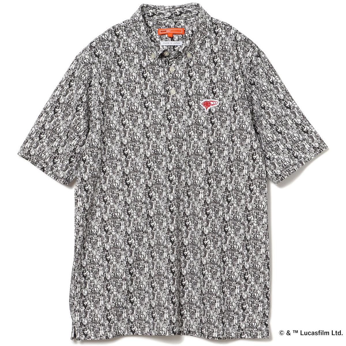 STAR WARS BEAMS GOLF 別注 総柄ポロシャツ