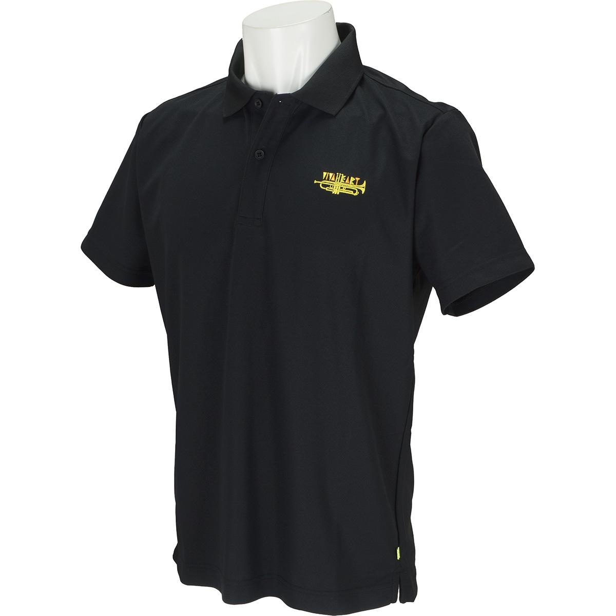 トランペットロゴ刺繍半袖ポロシャツ