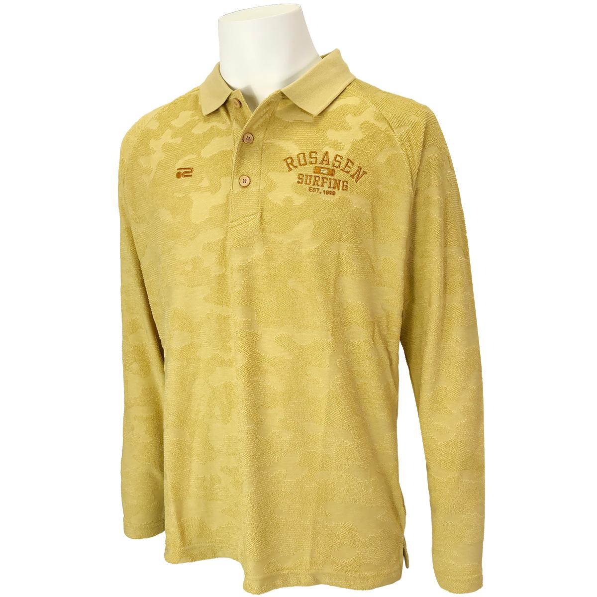 パイルジャカード長袖ポロシャツ