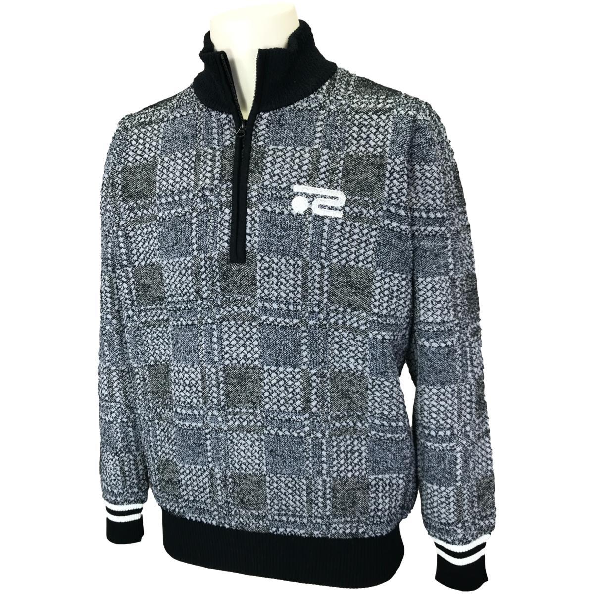 ジャカードチェック長袖セーター