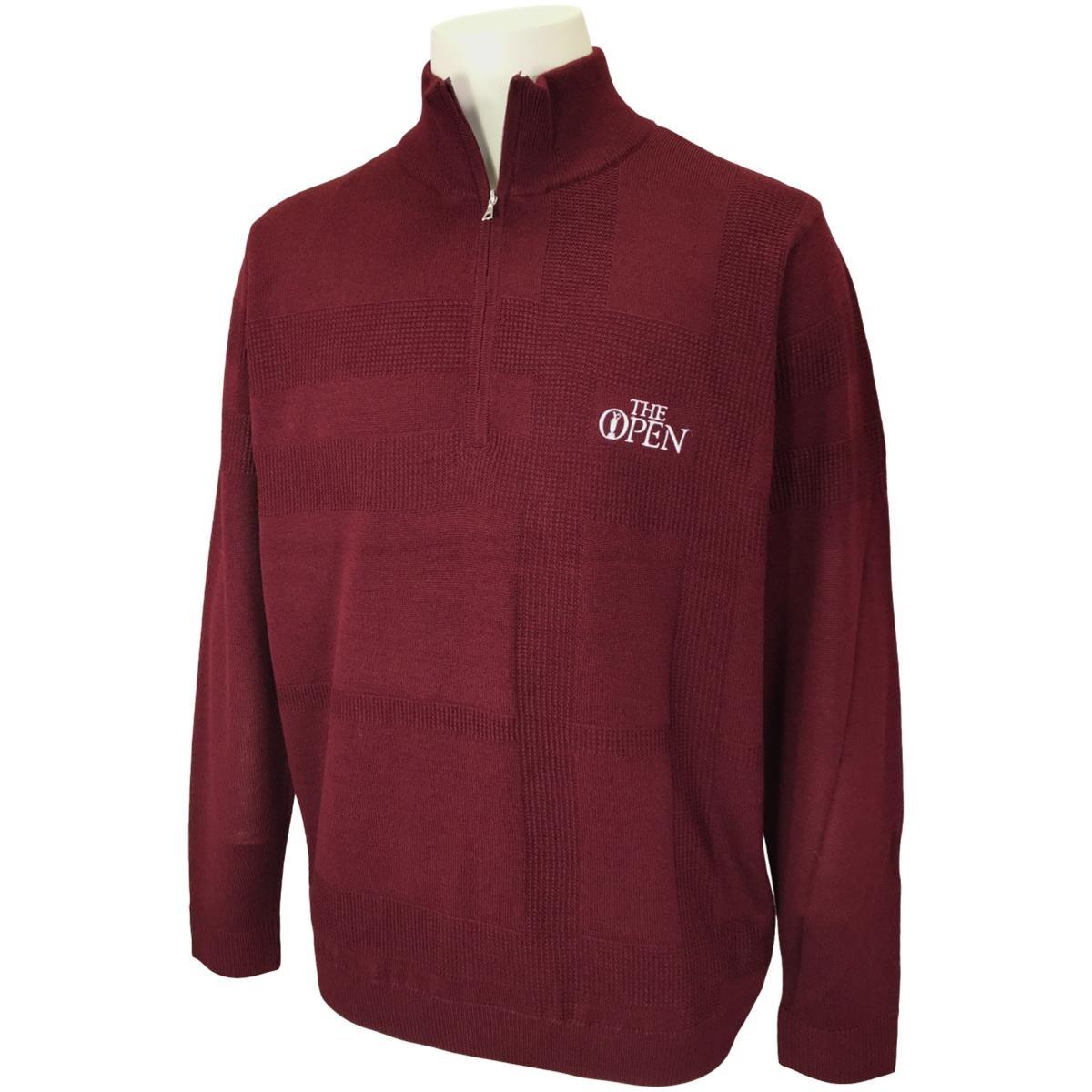 ジ オープン ハーフジップジャカードセーター