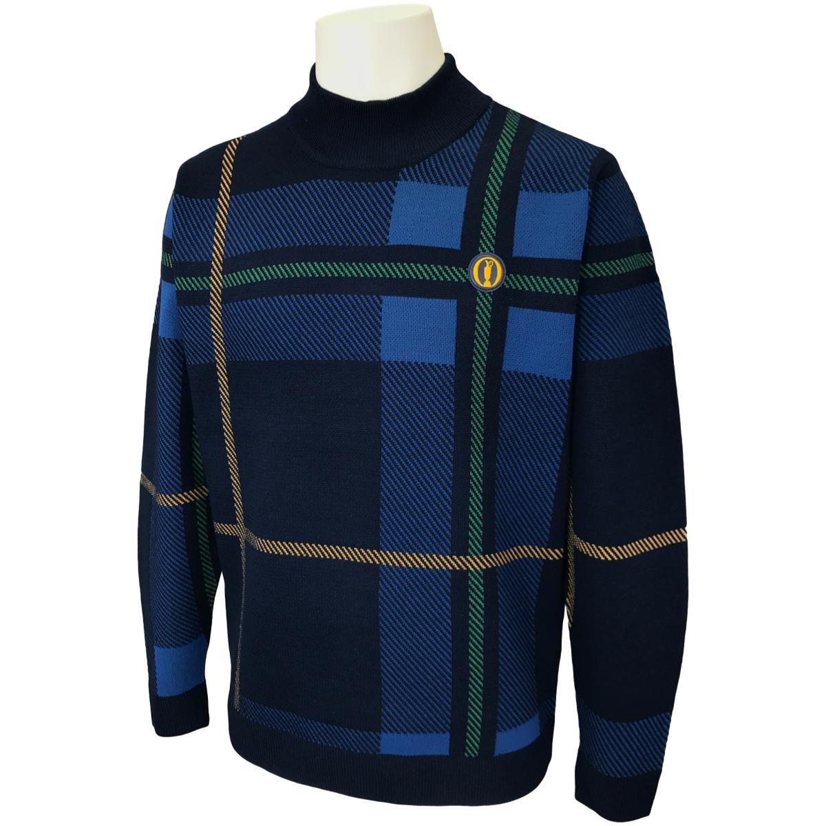 ジ オープン タータンチェックジャカードセーター