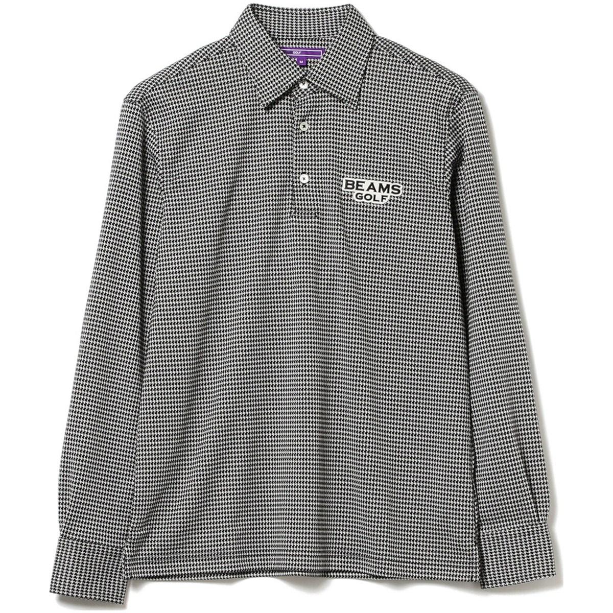 ビームスゴルフ BEAMS GOLF PURPLE LABEL ハンドトゥース プルオーバー ポロシャツ