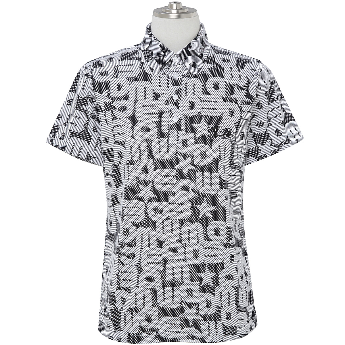 ロゴジャカードプリント半袖ポロシャツ