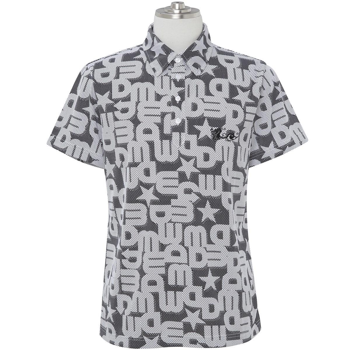 ダンスウィズドラゴン ロゴジャカードプリント半袖ポロシャツ