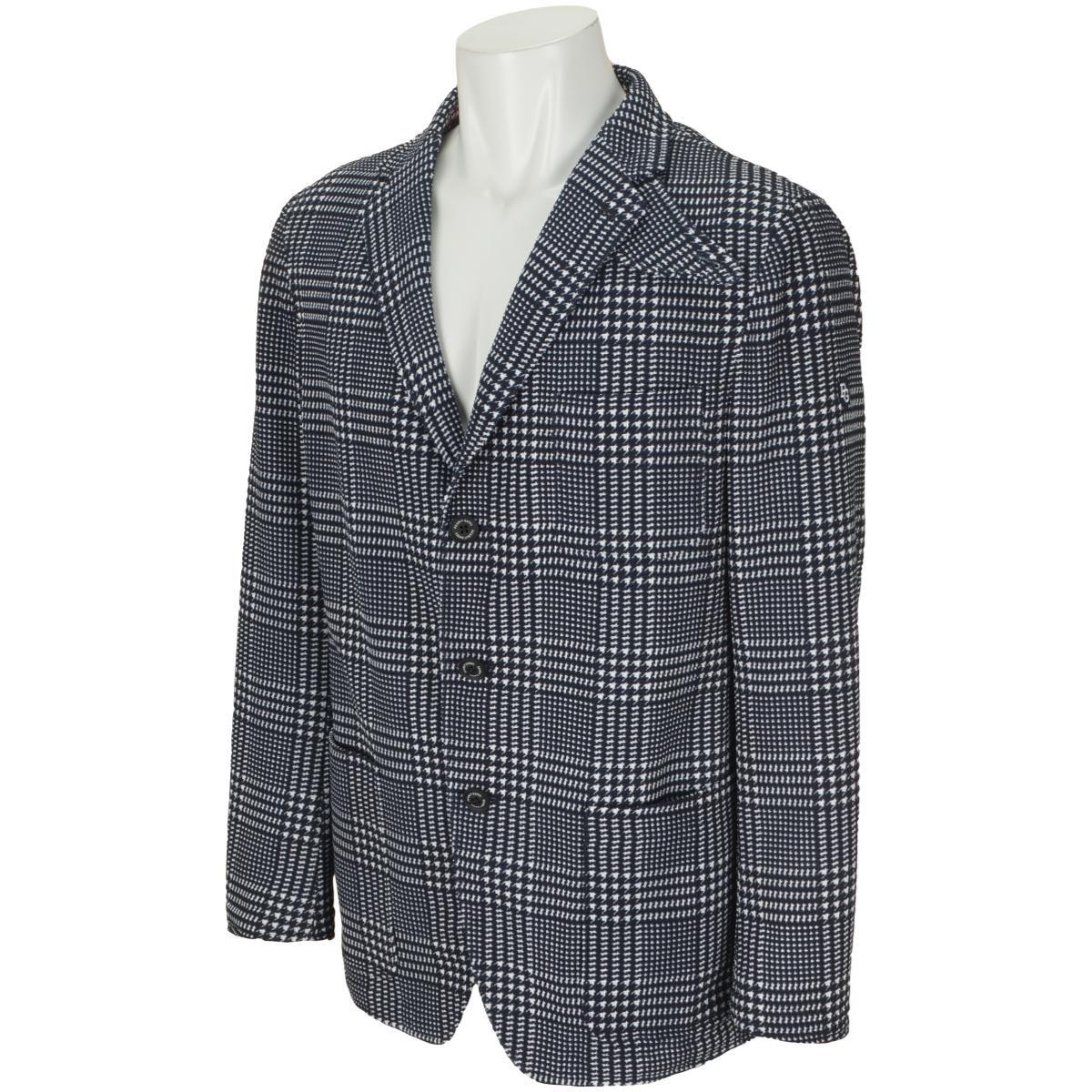 パーリーゲイツ トリコット グレンチェックプリントジャケット