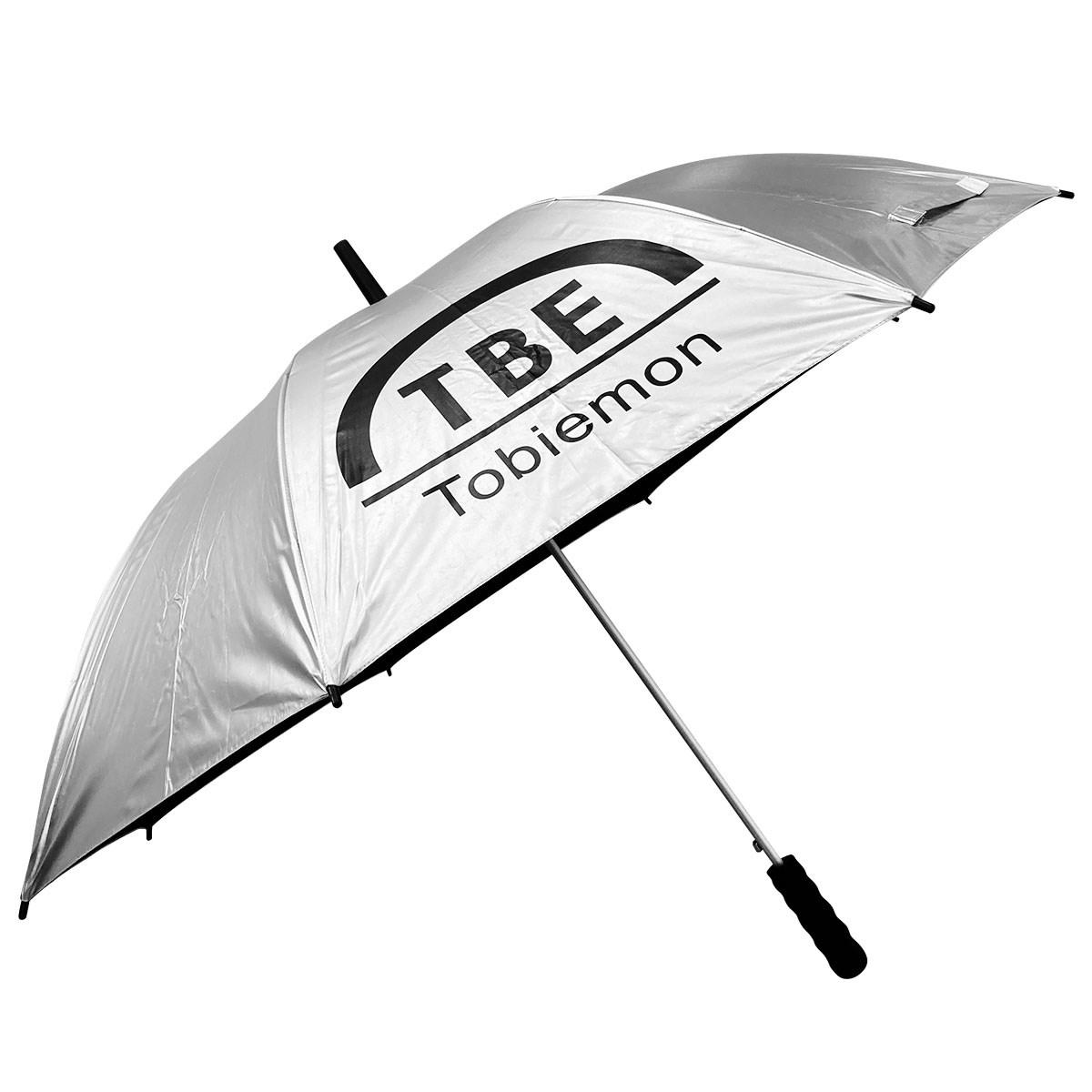 飛衛門 TOBIEMON 晴雨兼用 UVゴルフ傘 シルバー