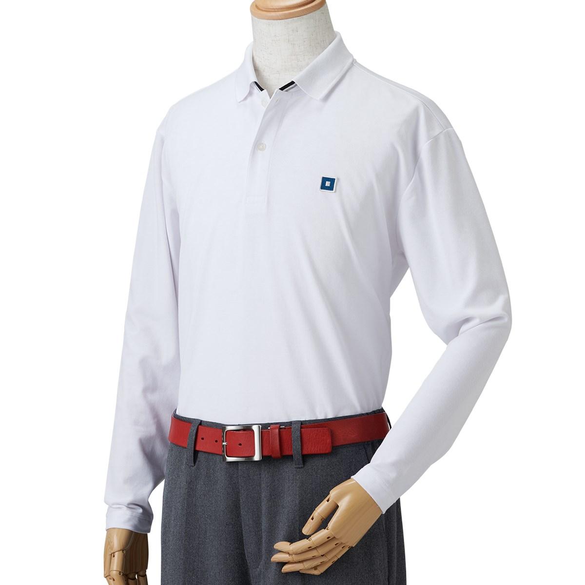 オノフ ONOFF COOLMAX 長袖ポロシャツ M ホワイト