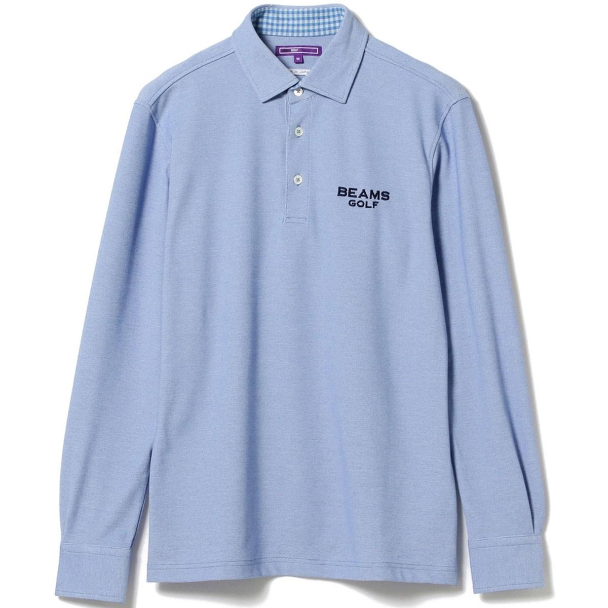 ビームスゴルフ BEAMS GOLF PURPLE LABEL シャンブレー ロングスリーブ プルオーバー シャツ