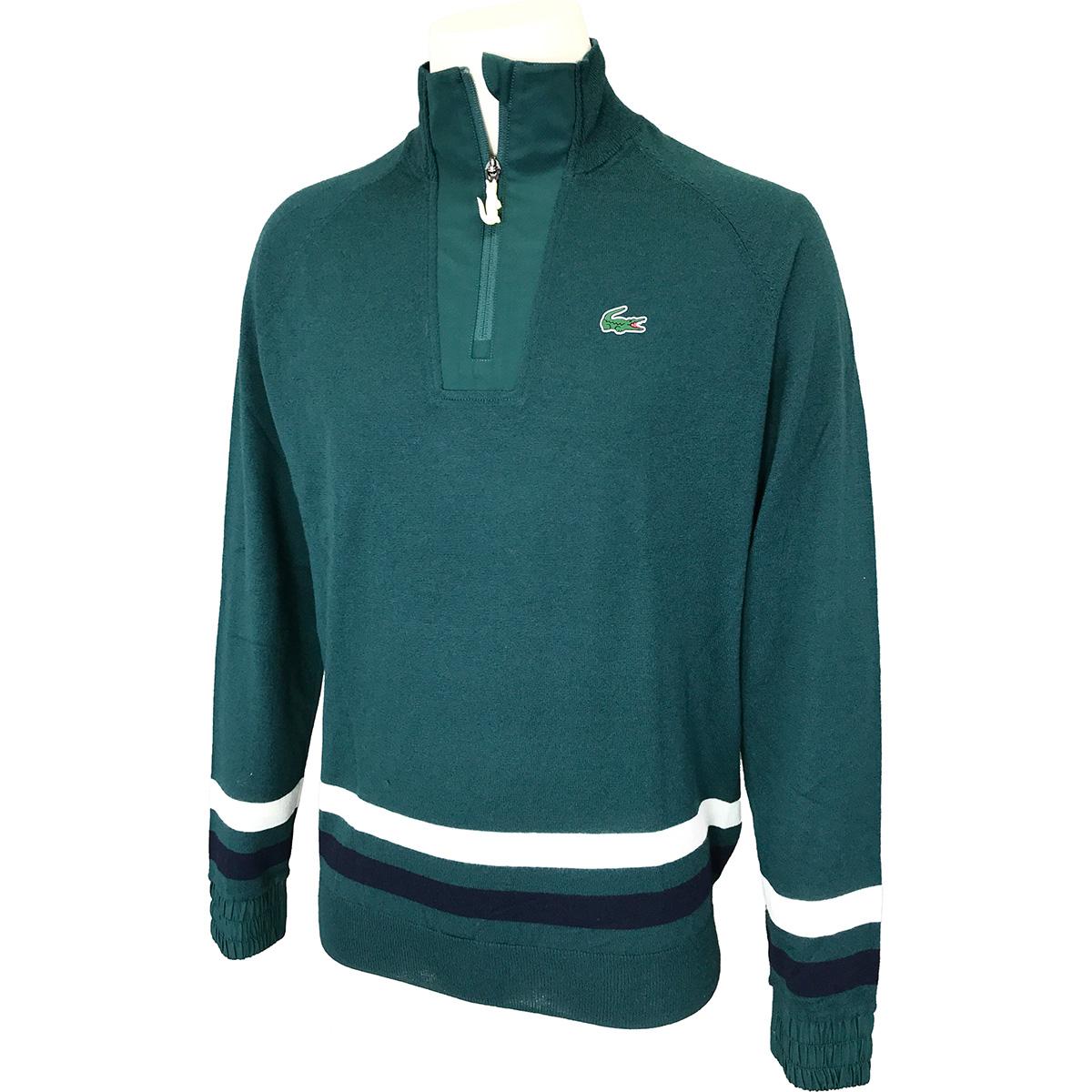 LACOSTE SPORT Coolmax(R) ハーフジップウールゴルフセーター