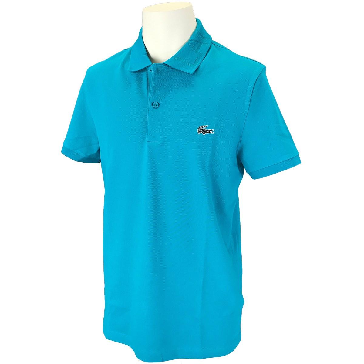 ラコステ ジャカードロゴ襟 半袖ポロシャツ