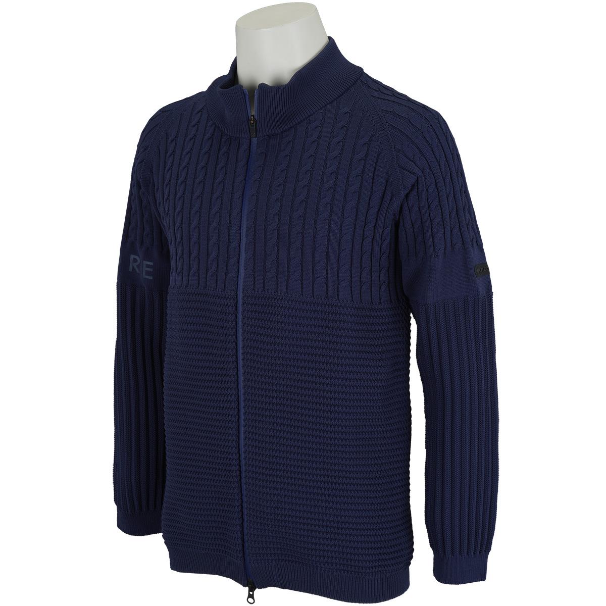 長袖ホールガーメント前開きセーター