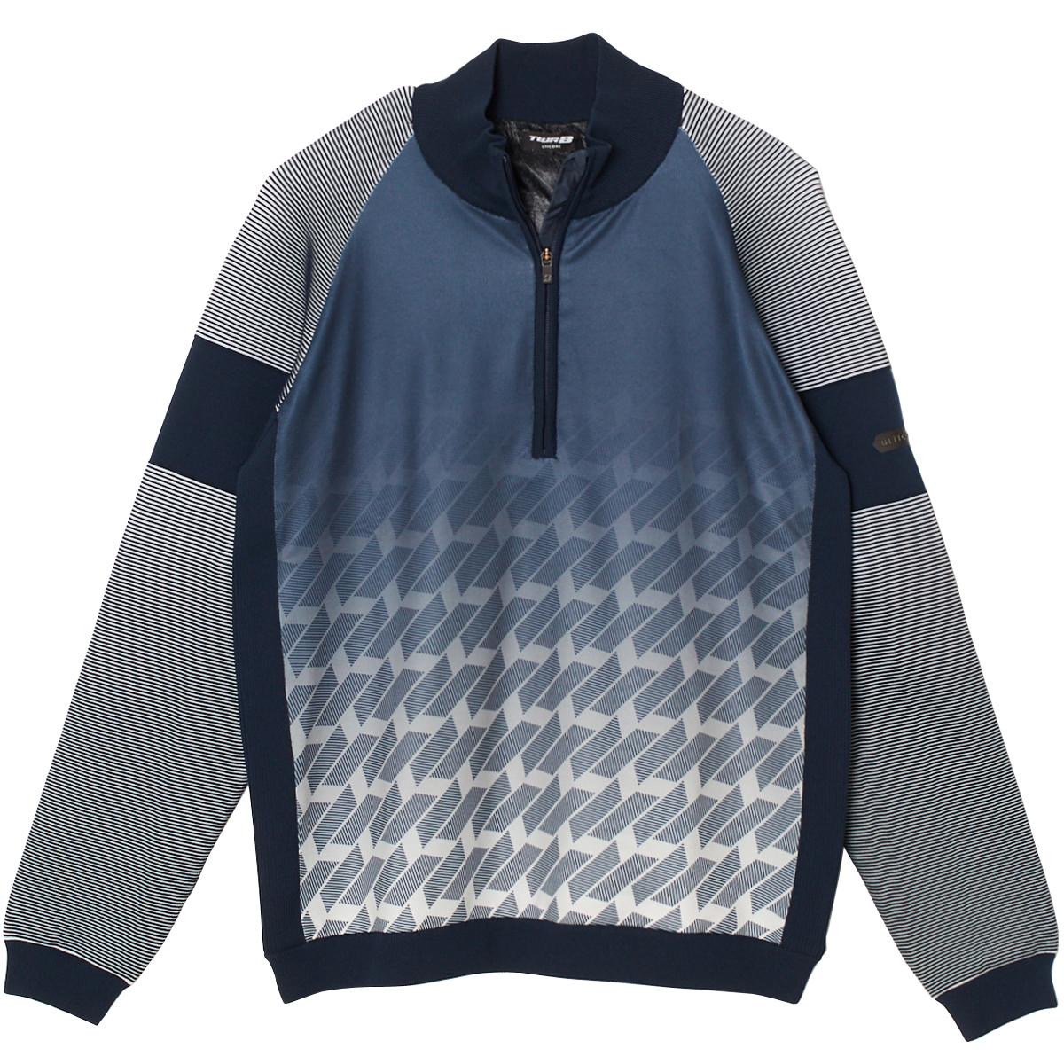 長袖ハーフジップセーター