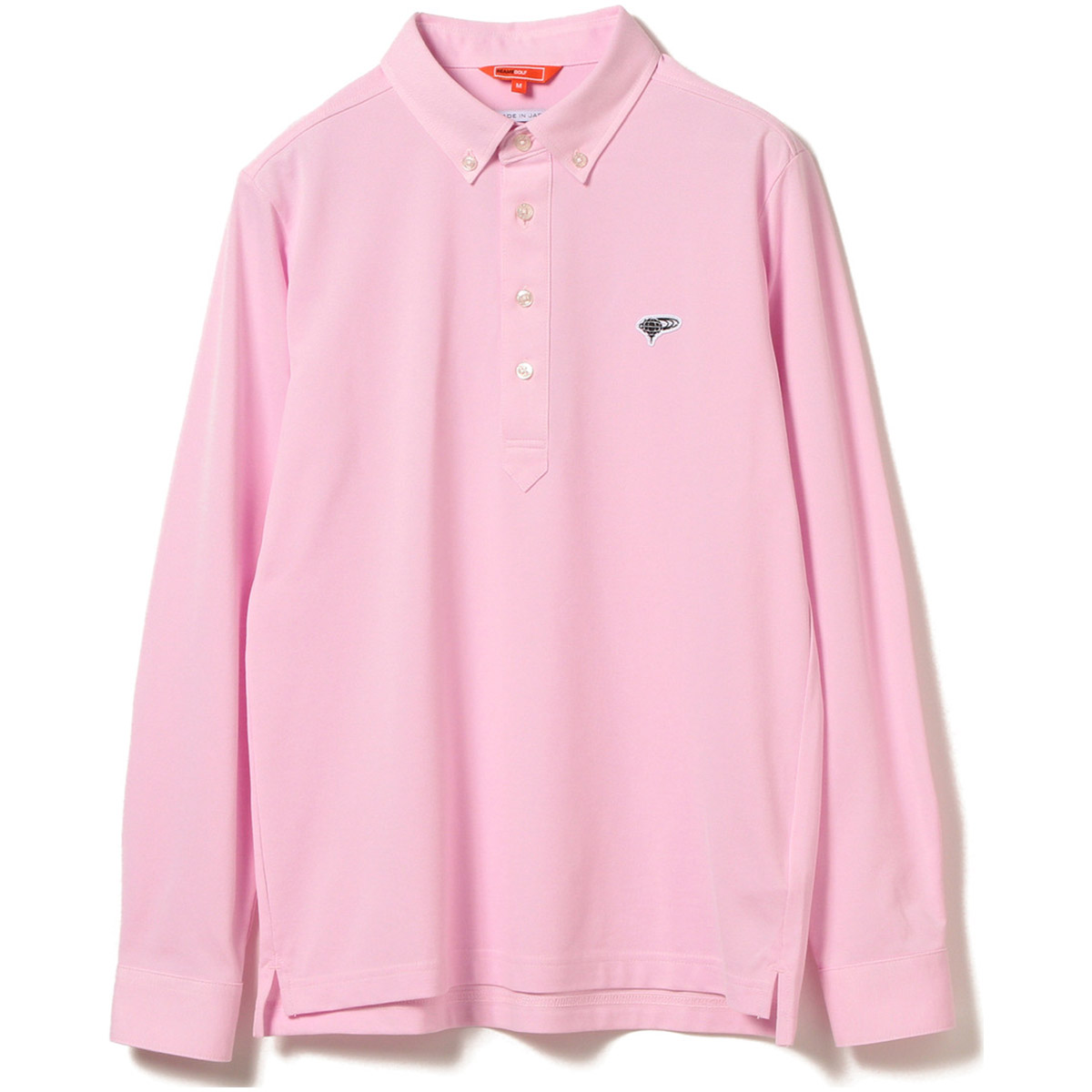 BEAMS GOLF ORANGE LABEL クールマックス プルオーバー ロングスリーブ ボタンダウン ポロシャツ