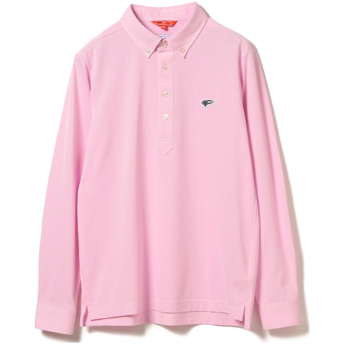 ビームスゴルフ BEAMS GOLF ORANGE LABEL クールマックス プルオーバー ロングスリーブ ボタンダウン ポロシャツ