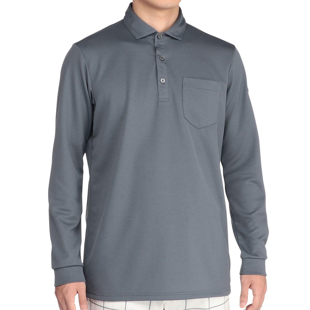 ミズノ MIZUNO ブレスサーモ ポケット付き長袖ポロシャツ XL グレー 05